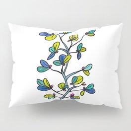 Blue leaves Pillow Sham