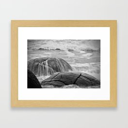 Rocky Shore Icing Framed Art Print
