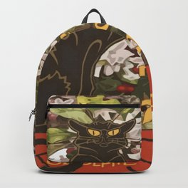 Easter Le Chat Noir de Paques With Floral Cross Backpack