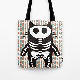 Meow Skeleton Tote Bag
