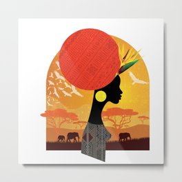 The Cradle of Civilization Metal Print