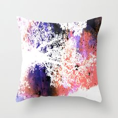 White Trees Colorful Space Throw Pillow