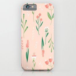Sweet Pea Pink Floral iPhone Case