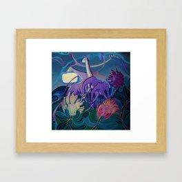 Moonlight dances Framed Art Print