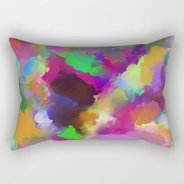 Expression Of Colour - Abstract, modern painting Rectangular Pillow