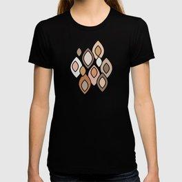 Mid Century Modern Scandinavian Leaves // Colors of the Desert T-shirt