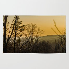 Sunset in the foothills Rug