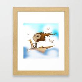 Origami Flying Framed Art Print