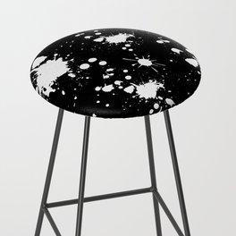 Black and White Splatter Bar Stool