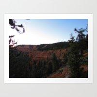 Mini Cliff Forest Art Print