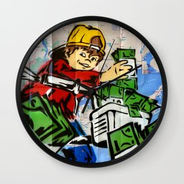 Paper Boy Color Royal Stain Wall Clock