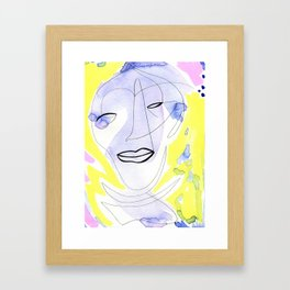 Try and Open Your Eyes Framed Art Print