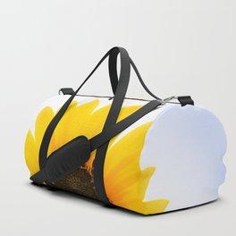 Golden Sunflower in the Sky Duffle Bag