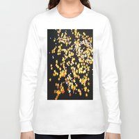 gold glitter Long Sleeve T-shirts featuring Glitter Gold Yellow Twinkle Stars by Masanori Kai