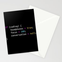 Funny gift for Programmer   Headphones Stationery Cards