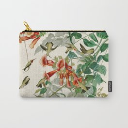 Ruby throated Humming Bird - Audubon's Print Carry-All Pouch
