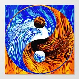 Yin Yang Fire Water Abstract Canvas Print
