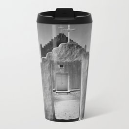 Ansel Adams - Taos Pueblo Church Travel Mug