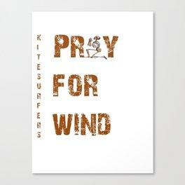 Kitesurfers Pray for Wind Canvas Print