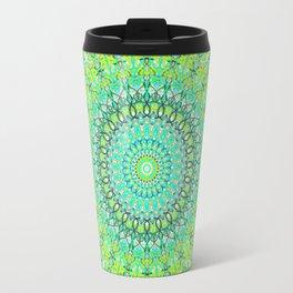 Green Geometric Mandala 0118 Travel Mug