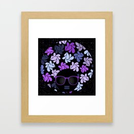 Afro Diva Purple Framed Art Print
