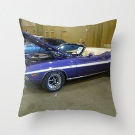 1970 Plum Crazy Purple 426 Hemi Challenger RT Convertible color photograph / photography  Throw Pillow