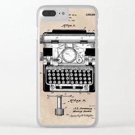 patent art typewriter Clear iPhone Case