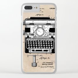 patent art typewriter Clear iPhone Case