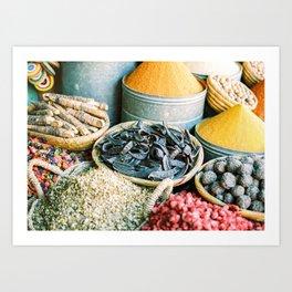 "Travel photography ""Souk Marrakech"" Spices of the Medina   Morocco photography Art Print"