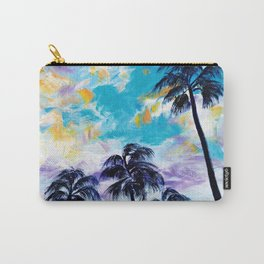 Oceanside Palm Trees Carry-All Pouch