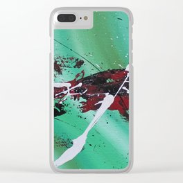 Green Rift Clear iPhone Case