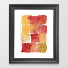 Watercolor abstract 9 Framed Art Print