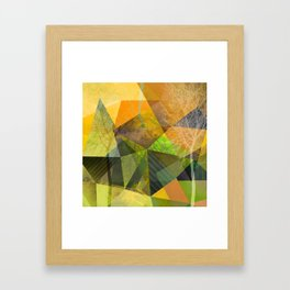 P24 Trees and Triangles Framed Art Print