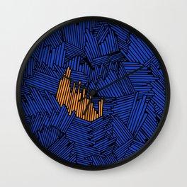 Happy Abstract Nr:01 Wall Clock