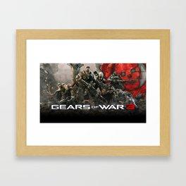 Gears Of War Work Art 03 Framed Art Print