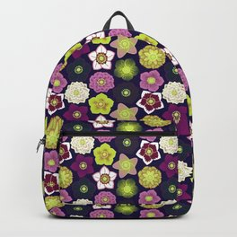 Hellebores (Winter Rose) - Navy Backpack