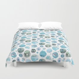 Blue Watercolor Polka Dots Duvet Cover