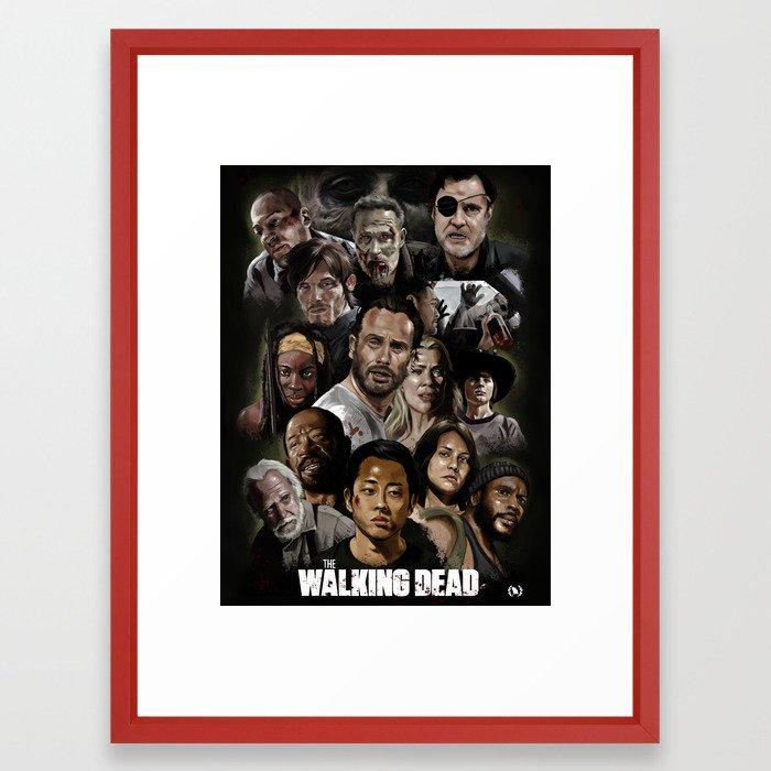 The Walking Dead Fan Framed Art Print By Goda Society6