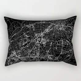 Santa Fe Black Map Rectangular Pillow