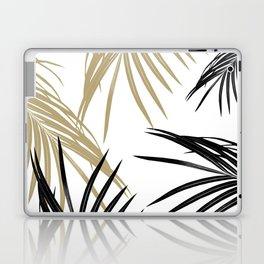 Gold Black Palm Leaves Dream #1 #tropical #decor #art #society6 Laptop & iPad Skin