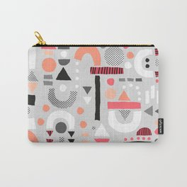 Tiny Inventor - Pink with Grey Carry-All Pouch