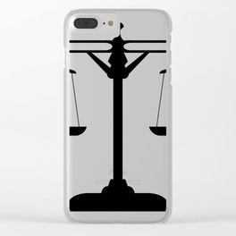 weight scale Clear iPhone Case