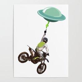 Motocross alien Poster