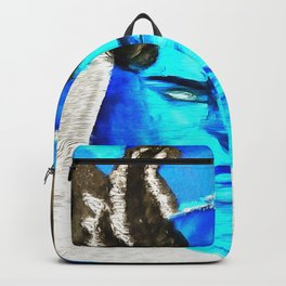 Devil With A Blue Face On Backpack