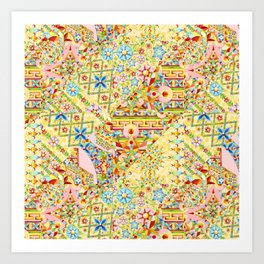 Sunshine Crazy Quilt (printed) Art Print