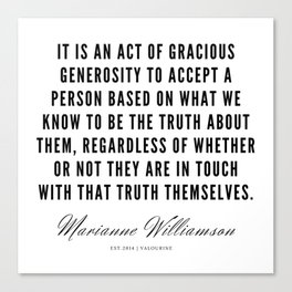 94  |  Marianne Williamson Quotes | 190812 Canvas Print