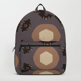eye and circle motif hex pattern Backpack
