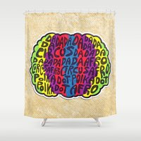 afro Shower Curtains featuring Circus Afro! Circus Afro!  by Brieana