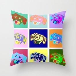 Dachshund Pop Art Throw Pillow