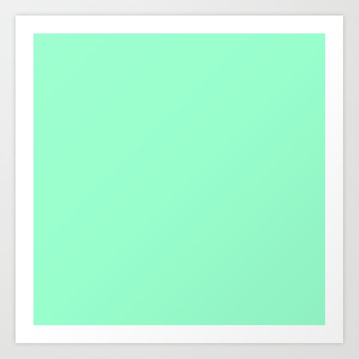 Mint Meringue Art Print